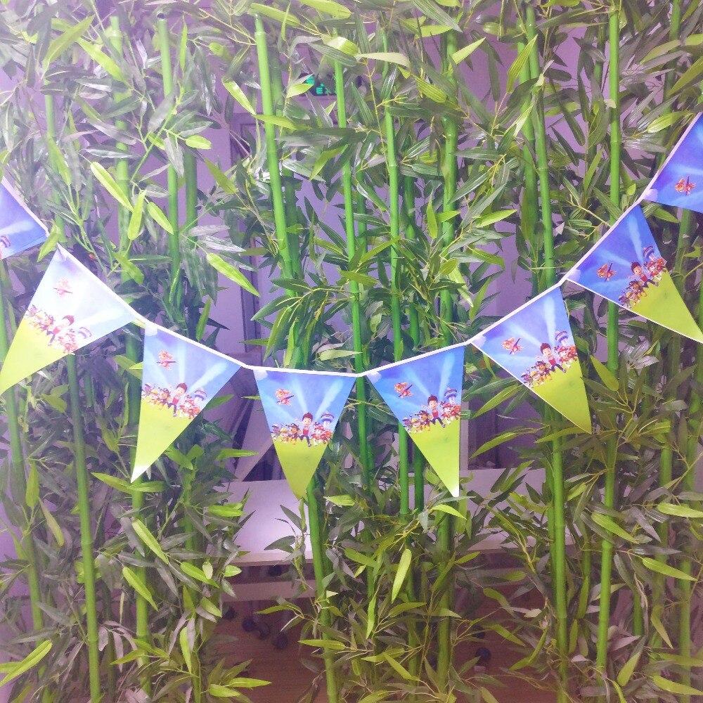 1 unids/set pancarta de patrulla canina, Bandera de cumpleaños, suministros para fiestas, banderines, decoración para eventos, decoración para fiestas infantiles, banderines para bebés