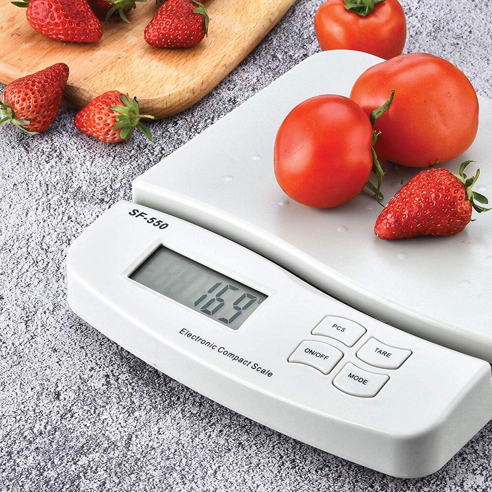 ميزان مطبخ رقمي 25 كجم/1 جرام ، متعدد الوظائف ، وزن ، الخبز والطبخ ، مع شاشة LCD