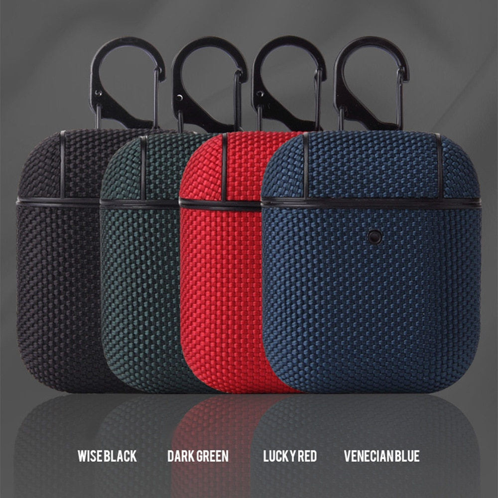 For AirPods 1 2 Textile Cloth Skin Earphone Case Wireless Bluetooth Headphone Cover Portable For Airpods 2 1 Pro Sleeve Bag Capa