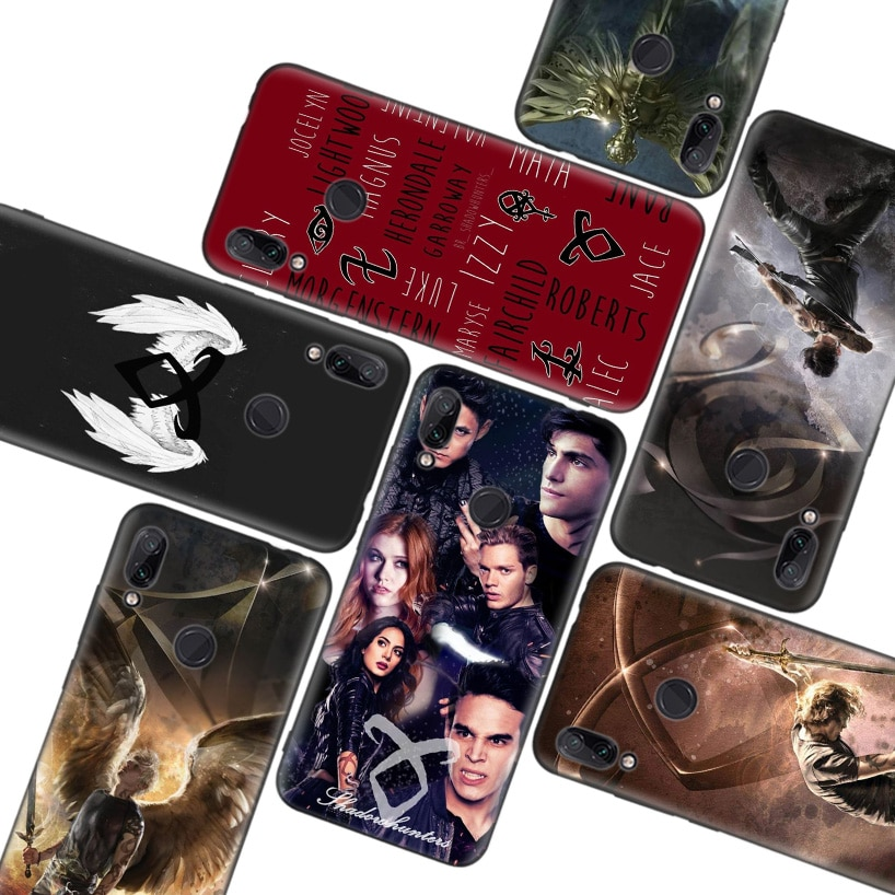 Funda negra shadowhunters para Xiaomi Redmi Note 8T 9S 8 8A 7 7A 6 6A K20 K30 Pro S2 Mi 10 CC 9 8 Lite, funda para teléfono