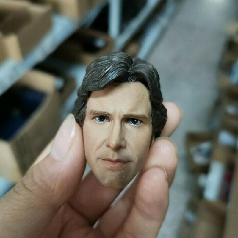 1/6 Harrison Ford Head Sculpt PVC Male Head Carving Fit 12'' Action Figure Body