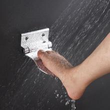Repose-pieds de douche mural repose-pied   En alliage daluminium, repose-pieds de salle de bains, repose-pieds de bain antidérapant 1 pièce