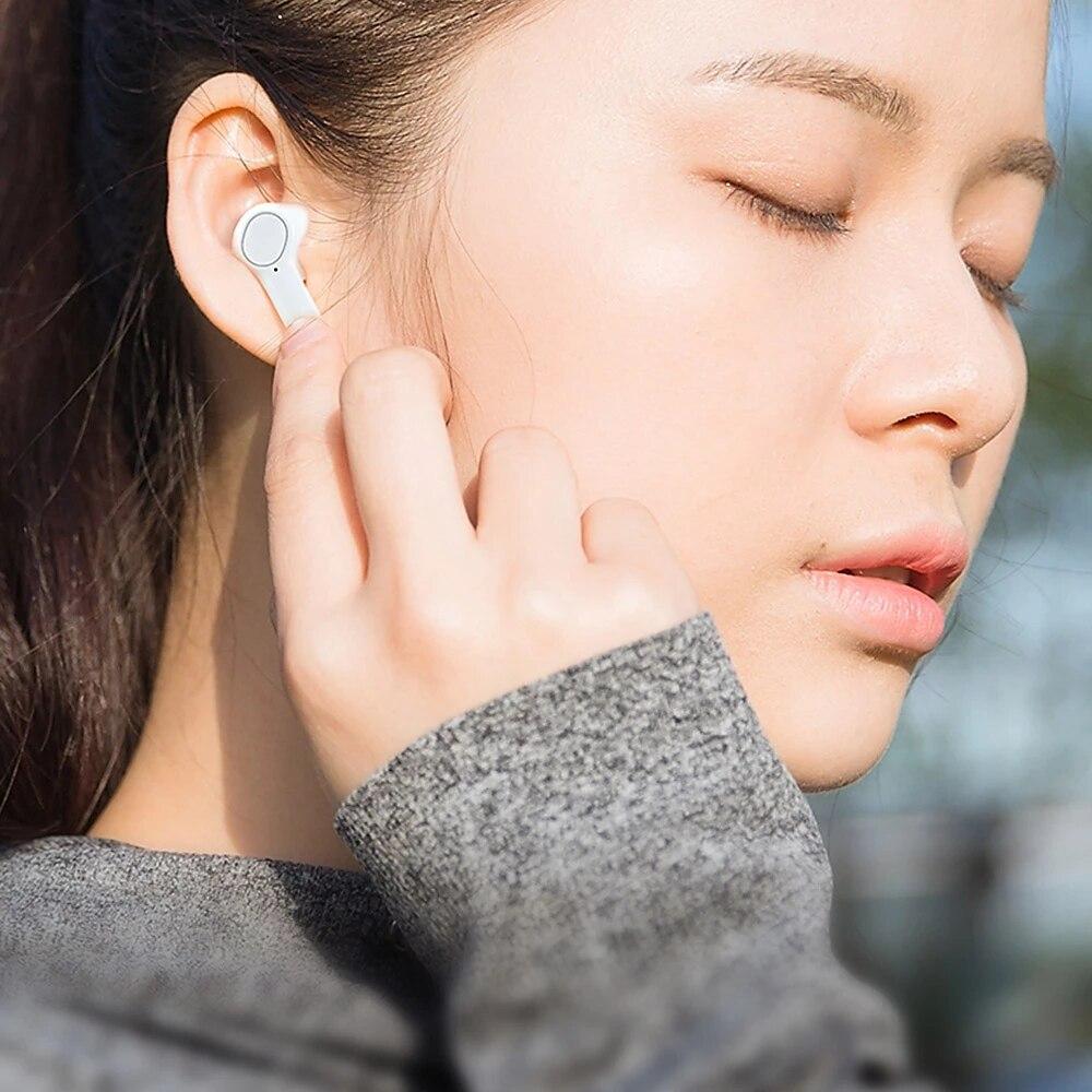 Fones de Ouvido sem Fio Fone de Ouvido com Microfone Lenovo Fones Estéreo Toque Inteligente pk Pods Qt83 Tws Bluetooth5.0