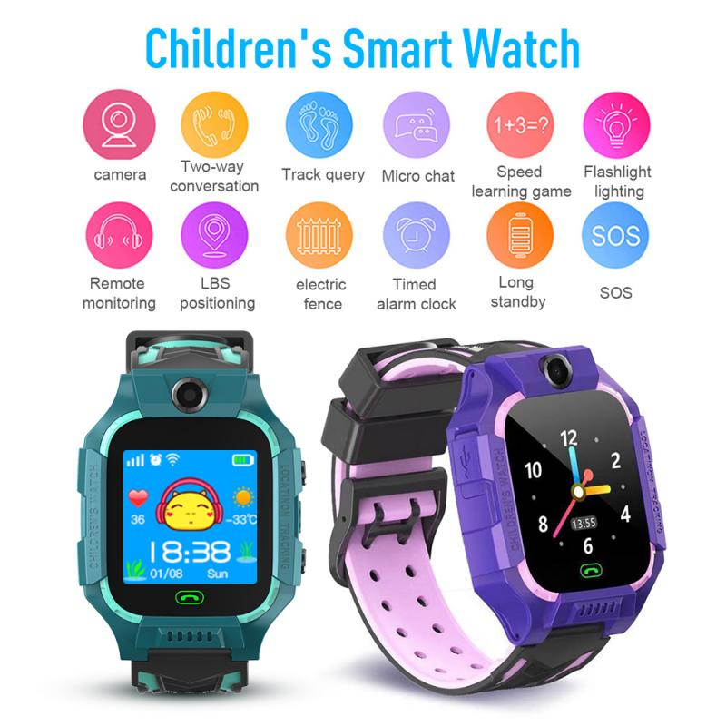 For Kids Children Bluetooth Smart Watch GPS GSM Touch Tracker SOS Call Waterproof With Camera Card-operable Two-way Call