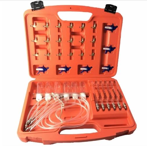 Medidor de flujo de inyector diésel, Kit de prueba de adaptador de riel común, Juego de pruebas de combustible, herramientas de automoción, comprobador de boquilla, medición de flujo de retorno de combustible