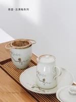 dehua white porcelain tea pot tea pot chinese kung fu tea set exquisite single pot tea set accessories handmade teapot