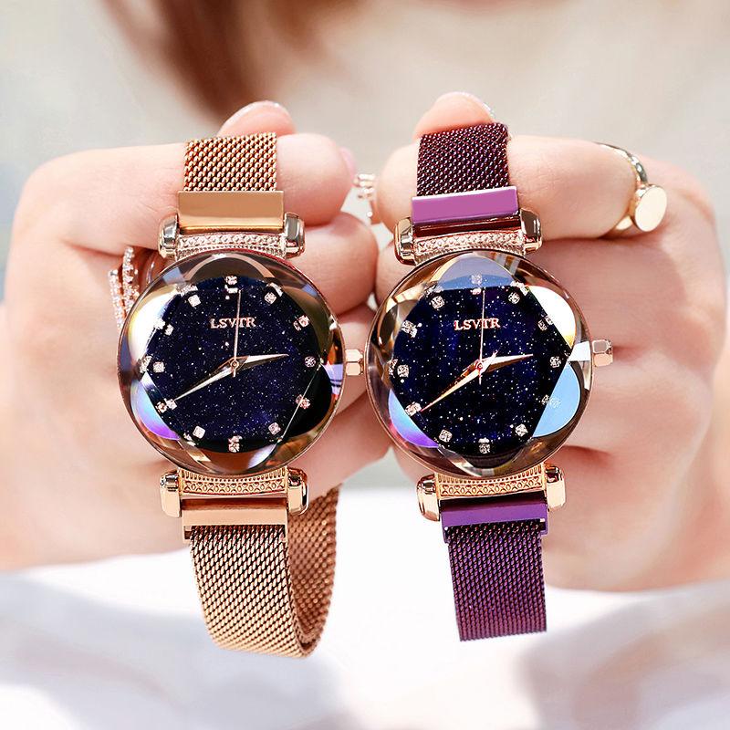 2020 New Women's Watch Magnet Belt Korean Trend Diamond Temperament Student Women's Watch