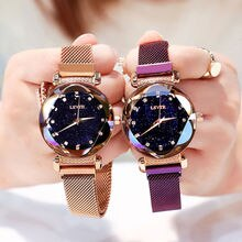 2020 New Women's Watch Magnet Belt Korean Trend Diamond Temperament Student Women's Watch