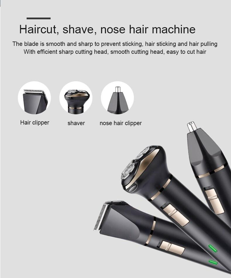 Electronic Razor Men Shaver Haircut Head Shaver Men's Razor Beard Trimmer shaver for men 3 blades waterproof enlarge
