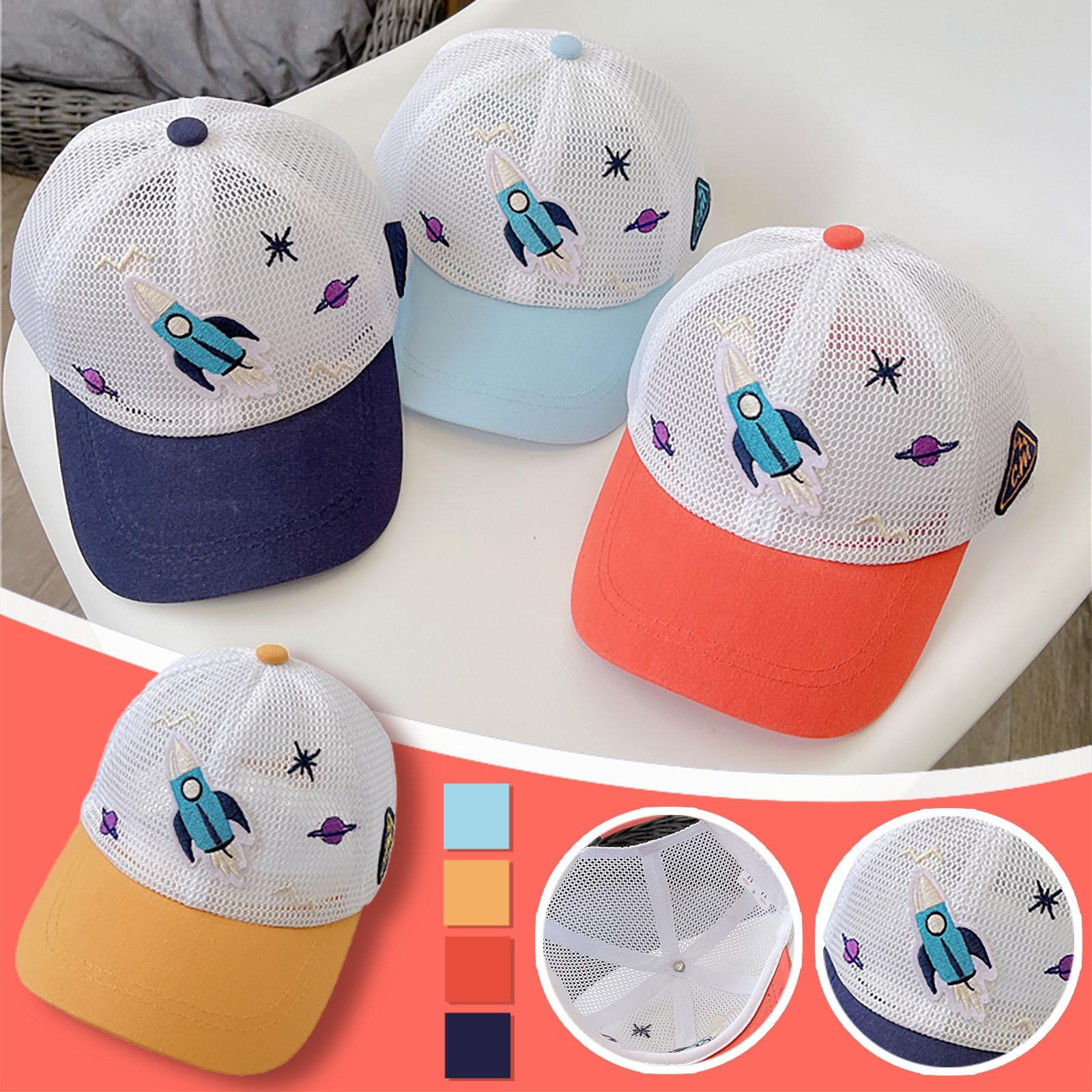 Baby baseball cap Kids Summer Breathable Outdoor Children Cartoon Star Rocket Baseball Cap Sun Hat baby hat  бейсболка детская