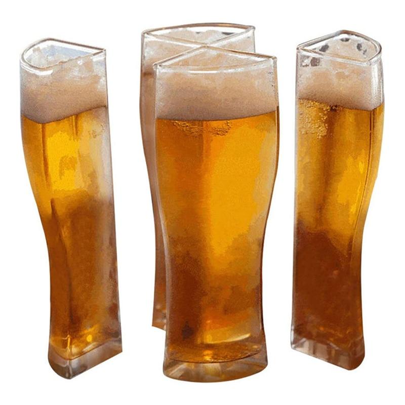 Super Schooner Beer Glasses Mug Cup Separable 4 Part Large Capacity Thick Beer Mug Glass Transparent for Club Bar Party