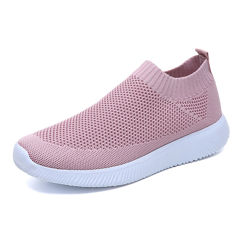 Women Shoes Ultralight Women Flats Sneakers Zapatos Causal Footwear Mujer Breathable Mesh Female Slip on White Round Toe Casual big bowtie women sandals round toe breathable air mesh female shoes shallow slip on low heels black summer sandalias mujer