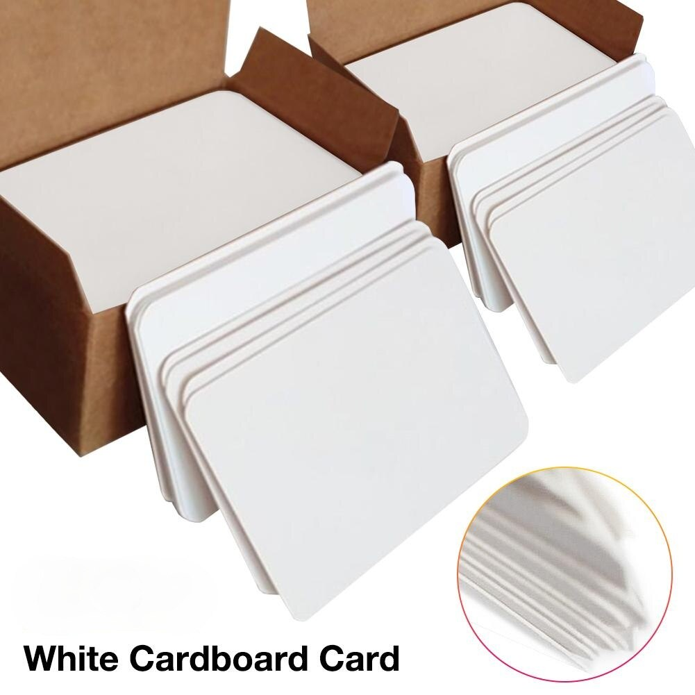 AliExpress - 100Pcs Playing Card Blank Hard Paper Card Paper DIY Board Game Postcard Handmade Wallpaper Postcards Message White Card