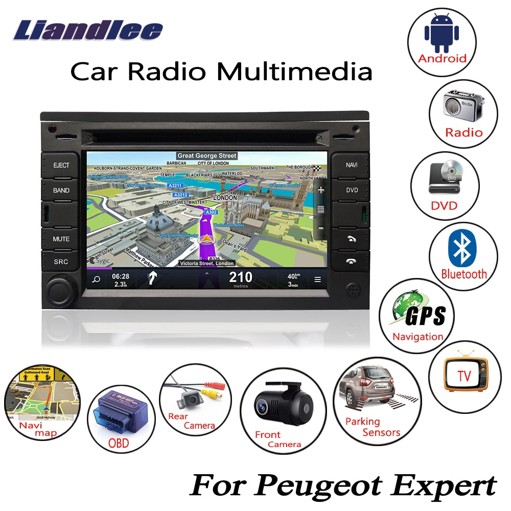 For Peugeot Expert 2007-2015 Android Car Radio CD DVD Player GPS Navigation Maps Camera OBD TV HD Sc