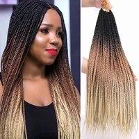 22 strands 3x box braids crochet hair extensions senegalese twist tissage for black women