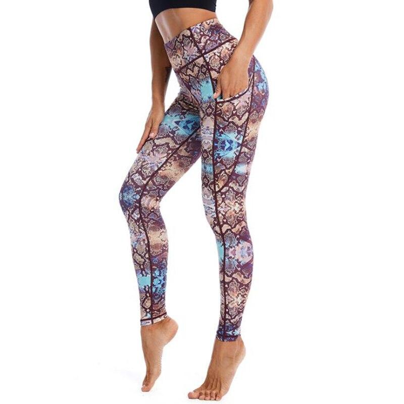 Pluz-pantalones De Yoga Estampados párr Mujer De Mallas De Fitness Con Bolsillo...