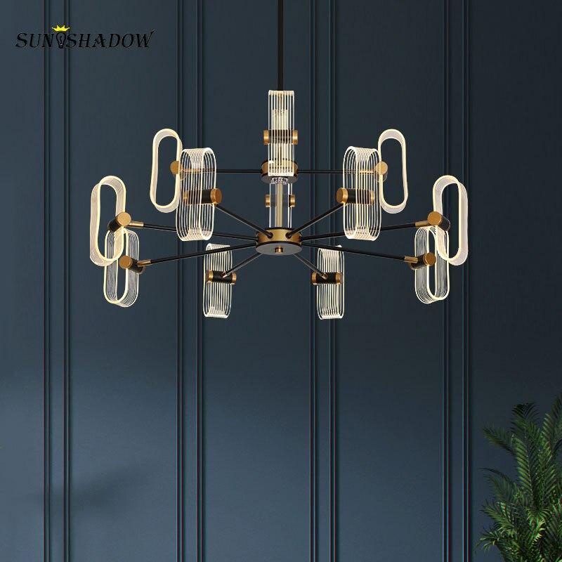 Скандинавские светодиодные люстры, декоративные светильники для гостиной, столовой, спальни, дома, потолочные люстры, светильники