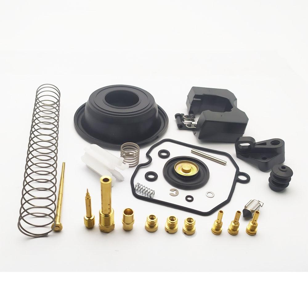 Conjunto inteiro reparação do carburador reconstruir válvula agulhas principal jet pilot lentos jatos kit para harley davidson cv 40 cv40 27421-99c 27490-0