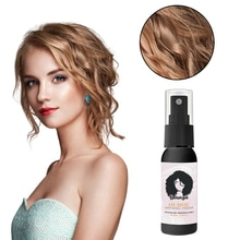 50ml Spray Hair Curling Styling Fluffy Hair Care Essential Oil Style Thickening Spray Mist For Salon