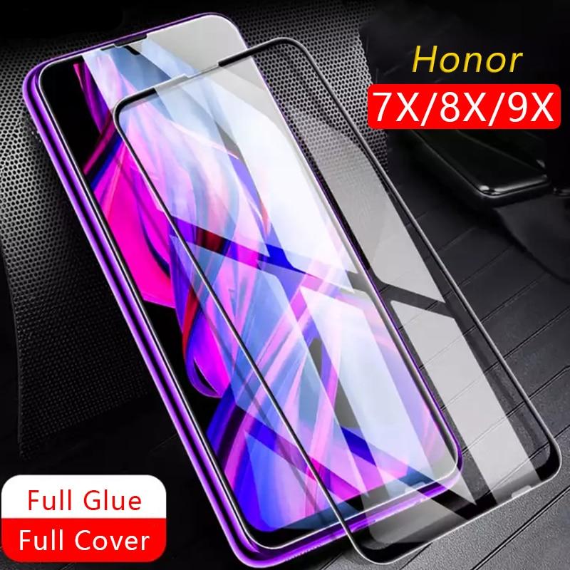 Vidro de proteção honor 7x 8x 9x protetor de tela glas temperado por huawei honor honor honor 7x 8x 9x7 8 9 x x7 x8 x9 segurança 9h
