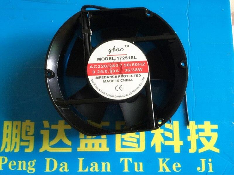 Ventilador de flujo axial de 17 cm CA 220 v/cm ventiladores de refrigeración, 17251