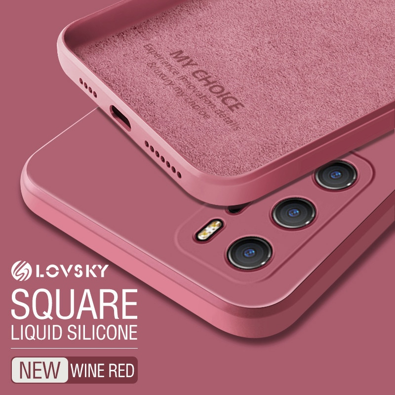 For Huawei P40 Pro P30 Pro P20 Pro Mate 40 Pro 30 Pro 20 Pro Case Luxury Square Original Liquid Sili