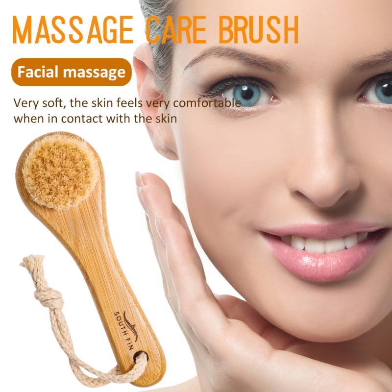 Cepillo de pelo Animal de aleta Sur, masaje de limpieza profunda para el cuidado de la piel, mejora el tono de la piel, Reduce las líneas de expresión, herramienta para eliminar el aceite