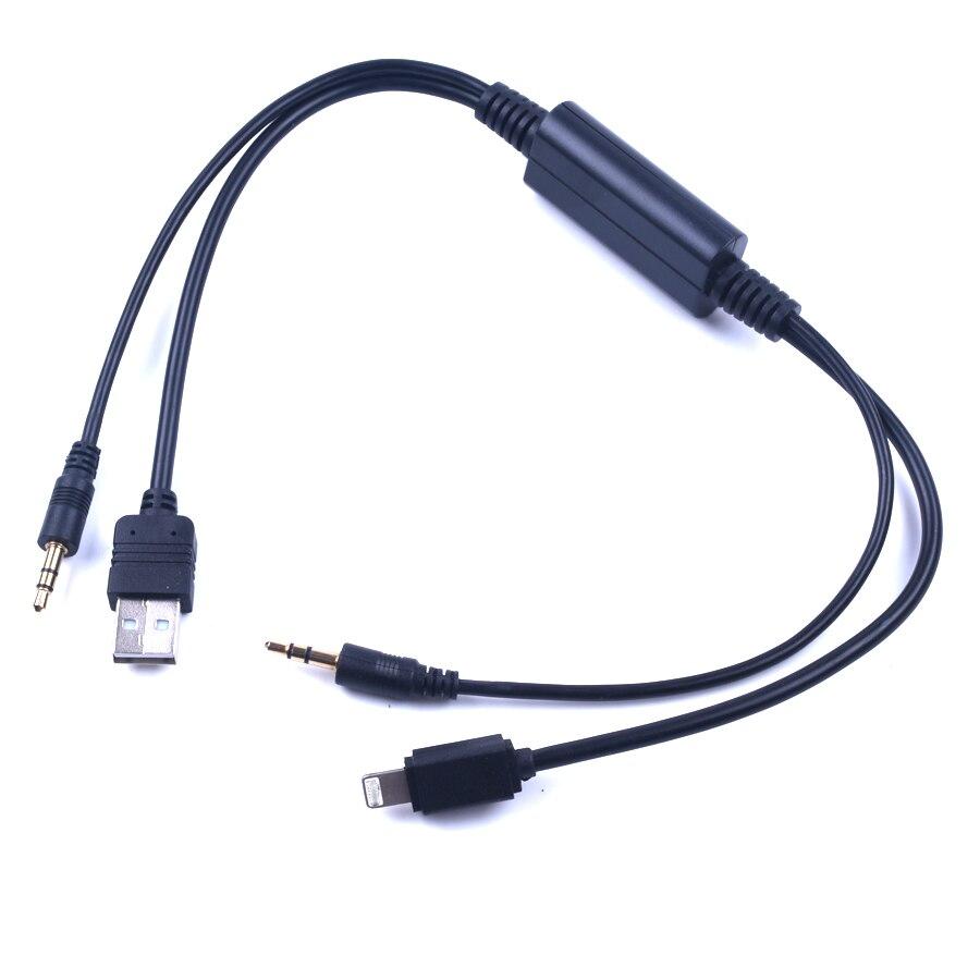 Audio Estéreo Aux USB para coche USB AUX adaptador Cable de interfaz...