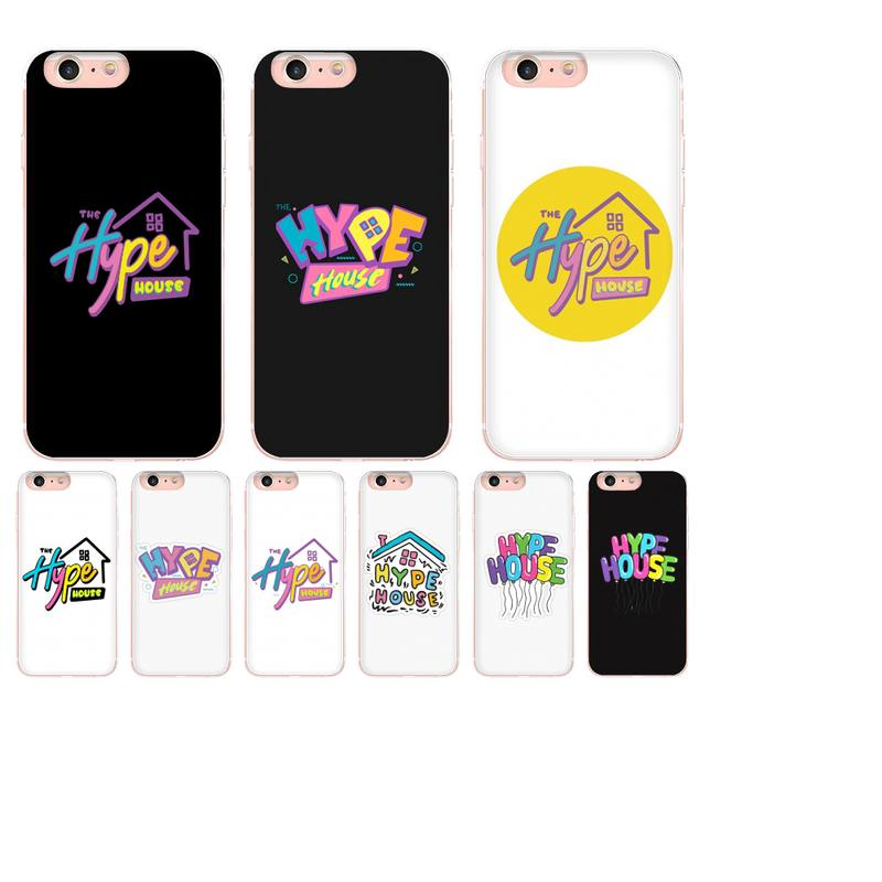Yinuoda Hype casa cubierta de negro caja del teléfono Shell para iPhone X XS X MAX 11 11 pro max 6 6s 7 7plus 8 8Plus 5 5S XR SE 2020
