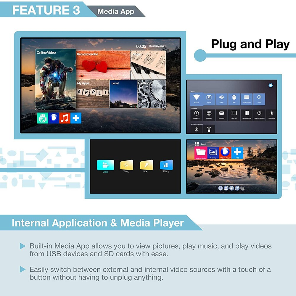 New 2x2 Video Wall Controller with Media PlayerCompliant  8 Display Modes - 2x2, 1x2, 1x3, 1x4, 2x1, 3x1, 4x1stand by DVI or HDM enlarge