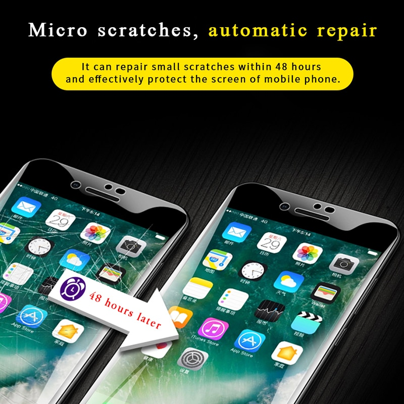 2Pcs 40D Hydrogel Film Screen Protector For iPhone 11 Pro XR X XS MAX Hydrogel Film For iPhone 7 8 6 6s Plus screen protector
