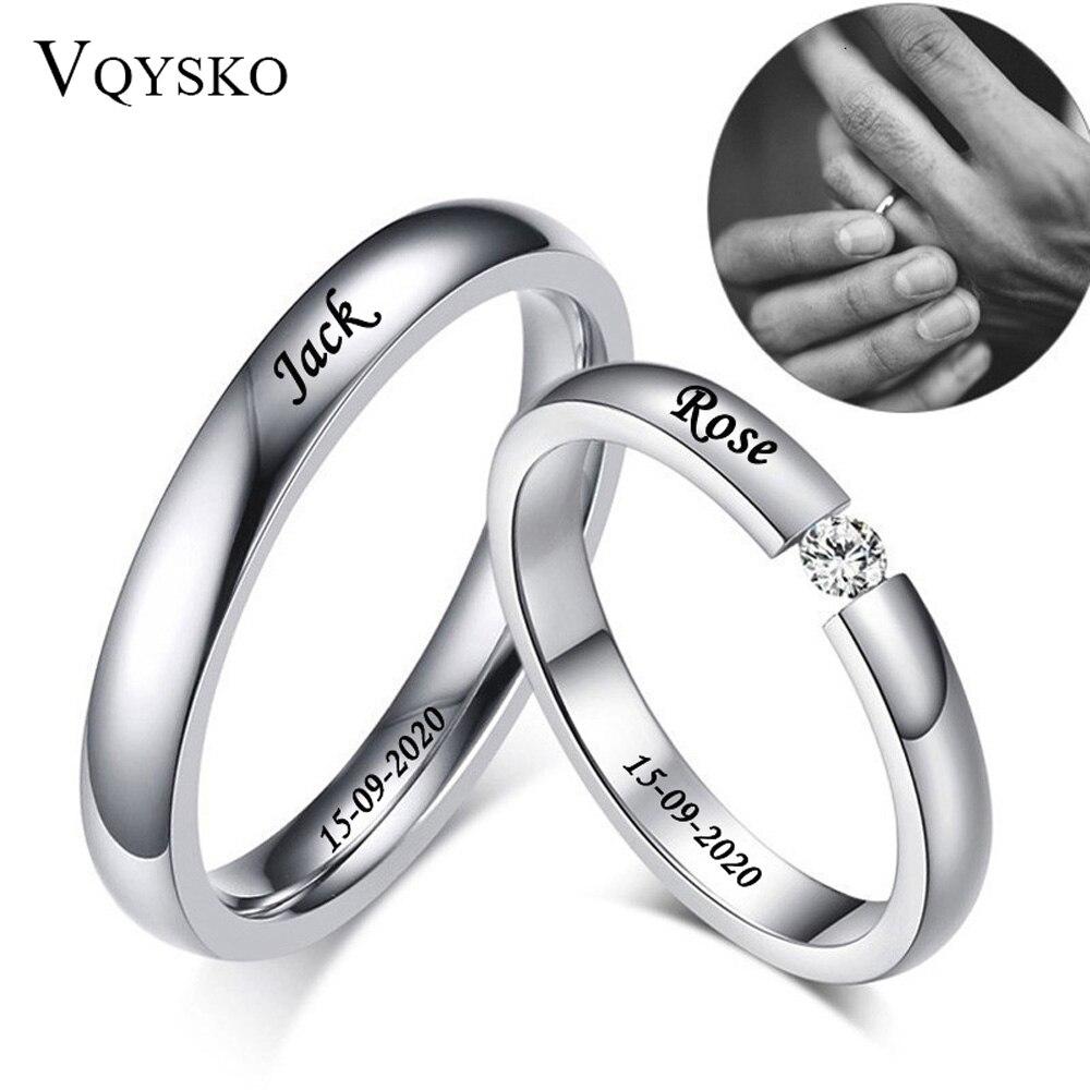 Anillos de boda personalizados de 3mm de acero inoxidable fino para hombre y mujer, anillos de compromiso sin desteñir, anillo solitario con piedra CZ Puzzle