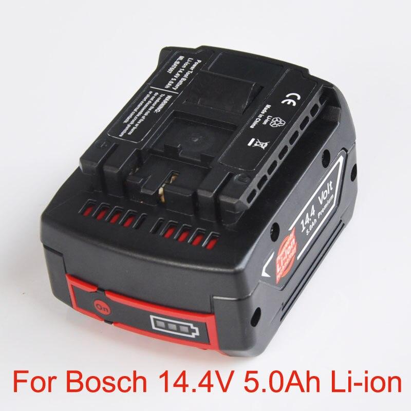 US 14.4V 5.0Ah Rechargeable Li-ion Battery pack replace for BOSCH cordless Electric drill screwdriver BAT607 BAT607G BAT614