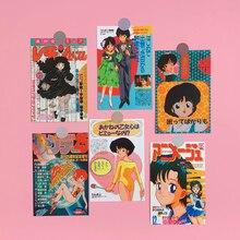 Retro Showa Japanese Comic Oversized Sticker Room Wall Decoration Sticker Hand Account Book Card Postcard Hand Account Gift