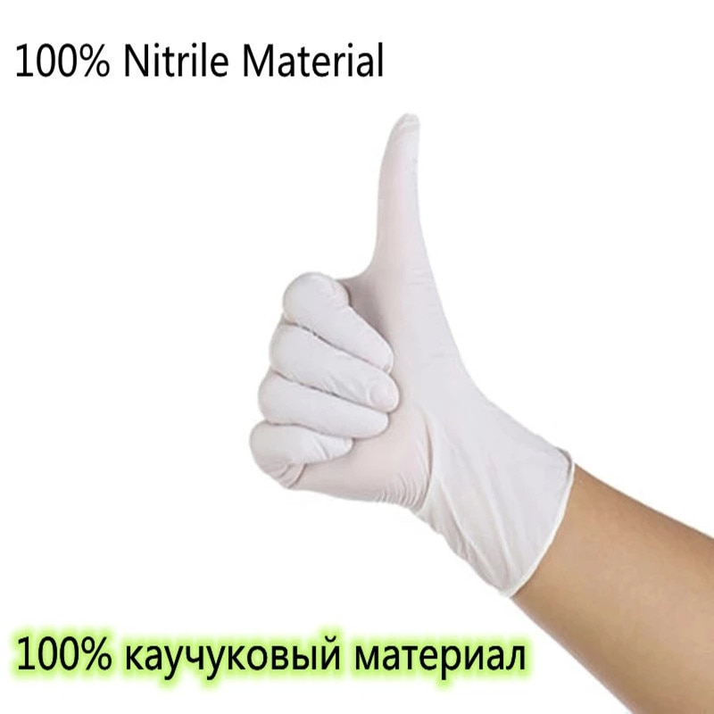 Disposable Gloves Latex Nitrile Rubber Laboratory Catering Kitchen Housework Household Labor Insurance Industrial Thick Gloves enlarge
