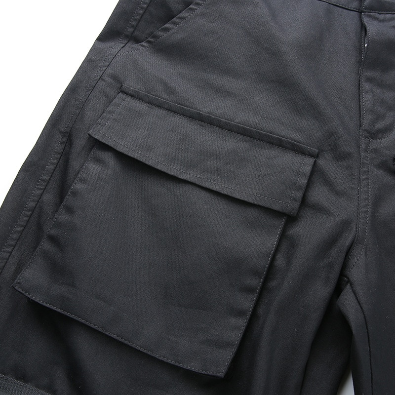 Cargo Pants Women Streetwear Joggers Trousers Sweatpants High Waist Plus Size Harem Pant Punk Harajuku Pockets Camouflage Black