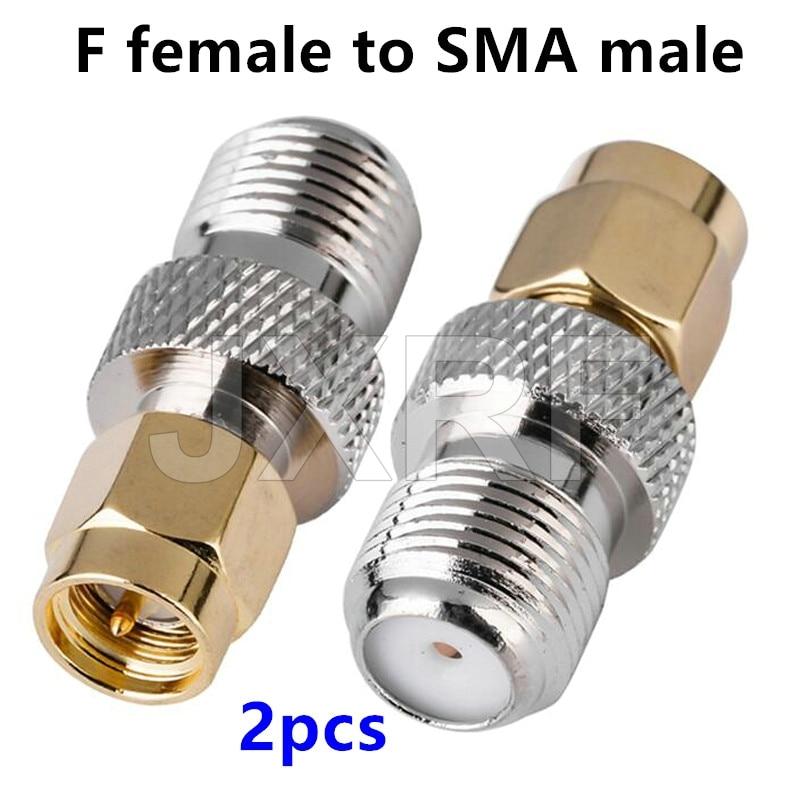 Jxrf Connector 2pcs Rf Coaxial Coax Adapter F Type Female Jack To Sma Male Plug Straight F Connector To Sma Connector Connectors Aliexpress