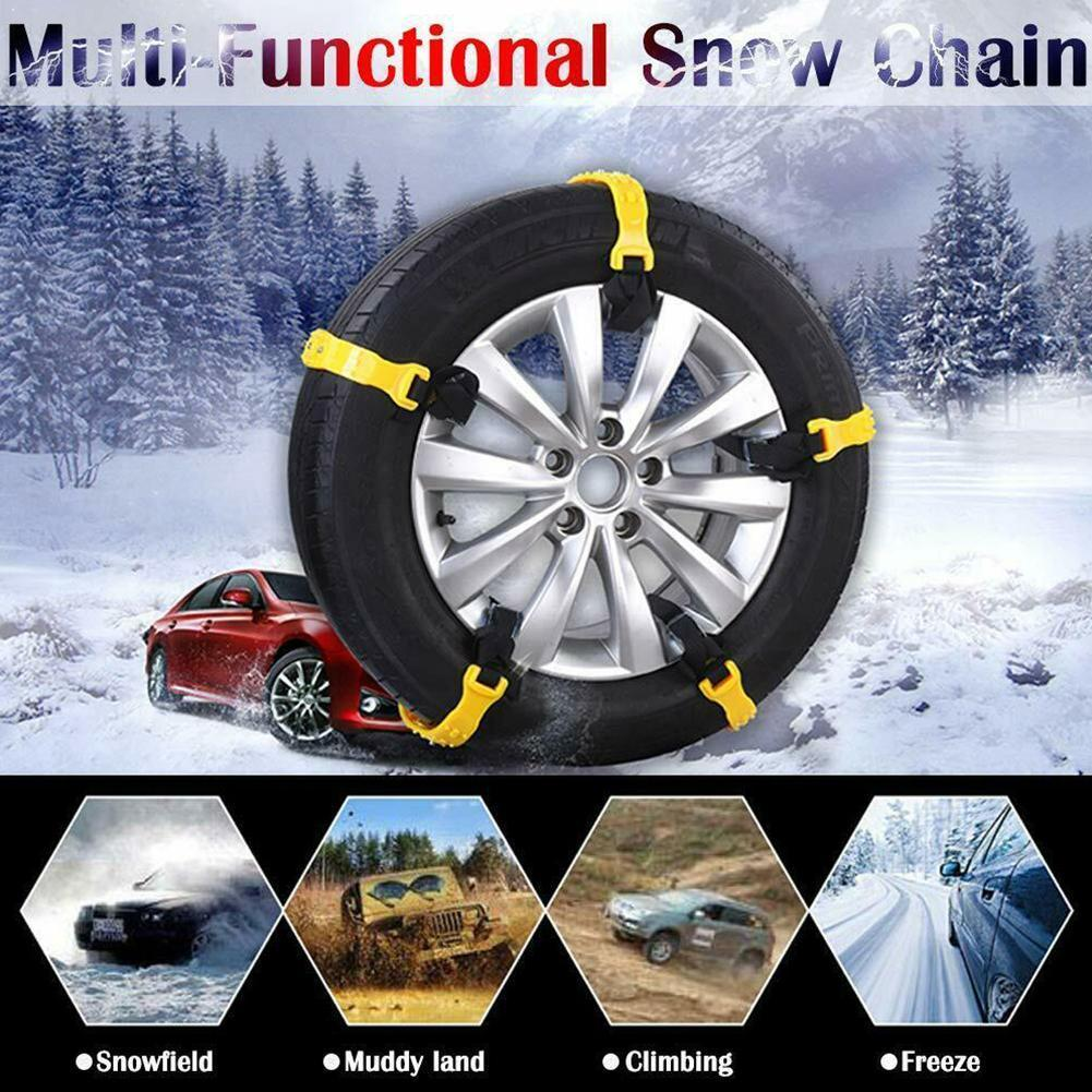 TPU and Steel Chains Universal Car Suit 185-295mm Tyre Roadway Safety Mud Winter Anti Ground Climbing Slip Chains Tire P4T1