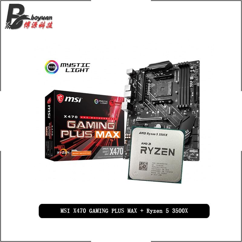 AMD Ryzen 5 3500X R5 3500X CPU + MSI X470 GAMING PLUS MAX carte mère costume Socket AM4 tout neuf mais sans refroidisseur