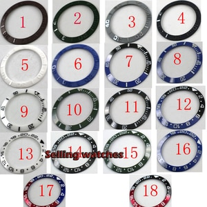 38mm Black Green White aluminum ceramic ( 18 color chosen) watch bezel insert for SUB SEA watch aftermarket replacement parts