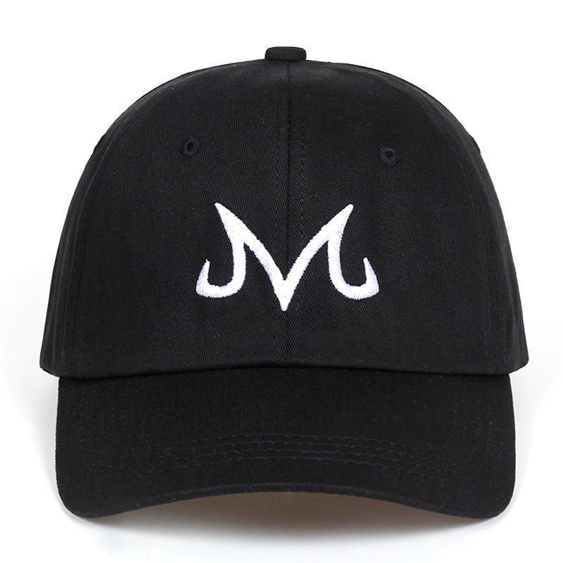 Gorra de béisbol con estampado de Majin Buu Gorra de béisbol de algodón para Dragon Ball Caps, sombrero de papá