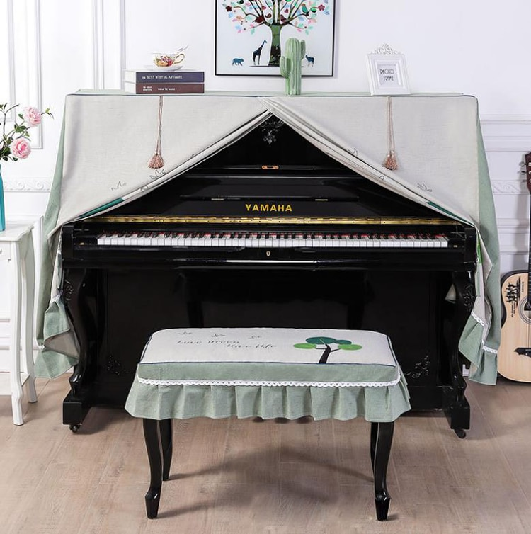 European Piano Cover Sets General Modern Dustproof Piano Cover Stool Seats Cover Home Decor Full Cover Piano Dust Cover enlarge