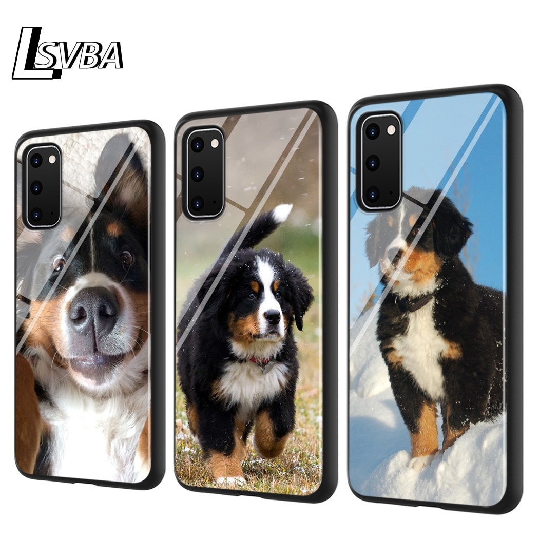 Perro de Montaña bernés para Samsung Galaxy Note 10 Lite S20Ultra S20 Plus A01 A21 A51 A71 A81 A91 funda de teléfono súper brillante
