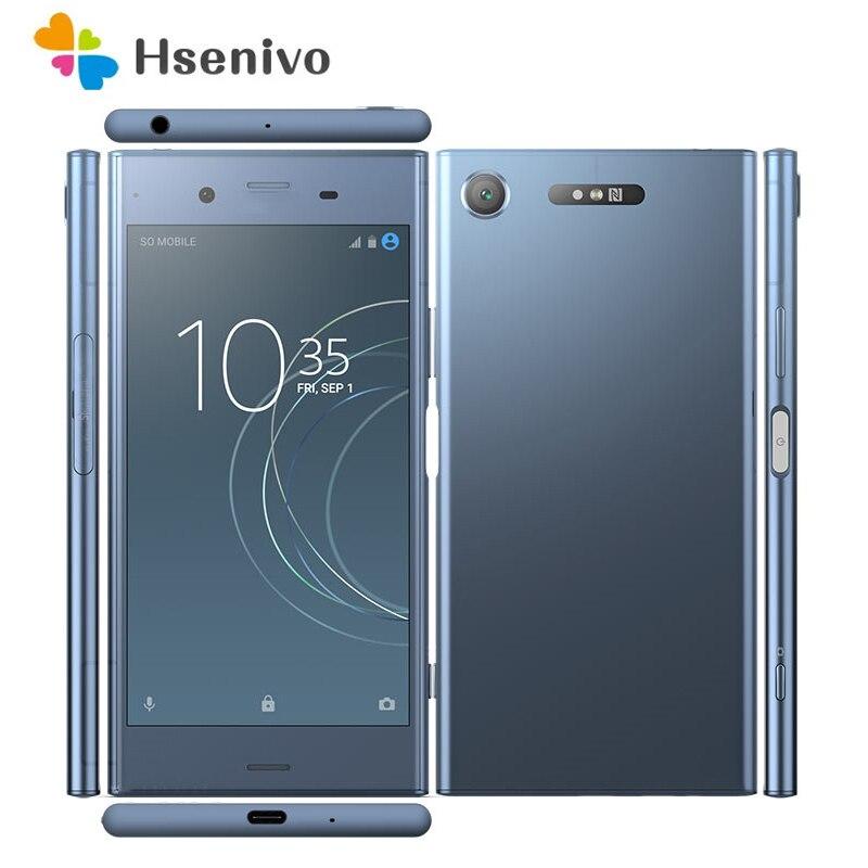 Восстановленный Оригинальный разблокированный смартфон Sony Xperia XZ1 G8341 с одной SIM-картой 64 ГБ 4 ГБ ОЗУ Android 8,0 4G Bluetooth NFC сотовый телефон