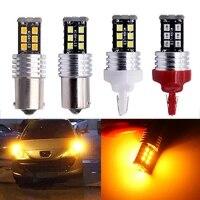 100x canbus dc 24v 2835 15 smd p21w 1156 1157 7440 7443 3156 3157 led bulb backup parking turn signal rear brake light no error