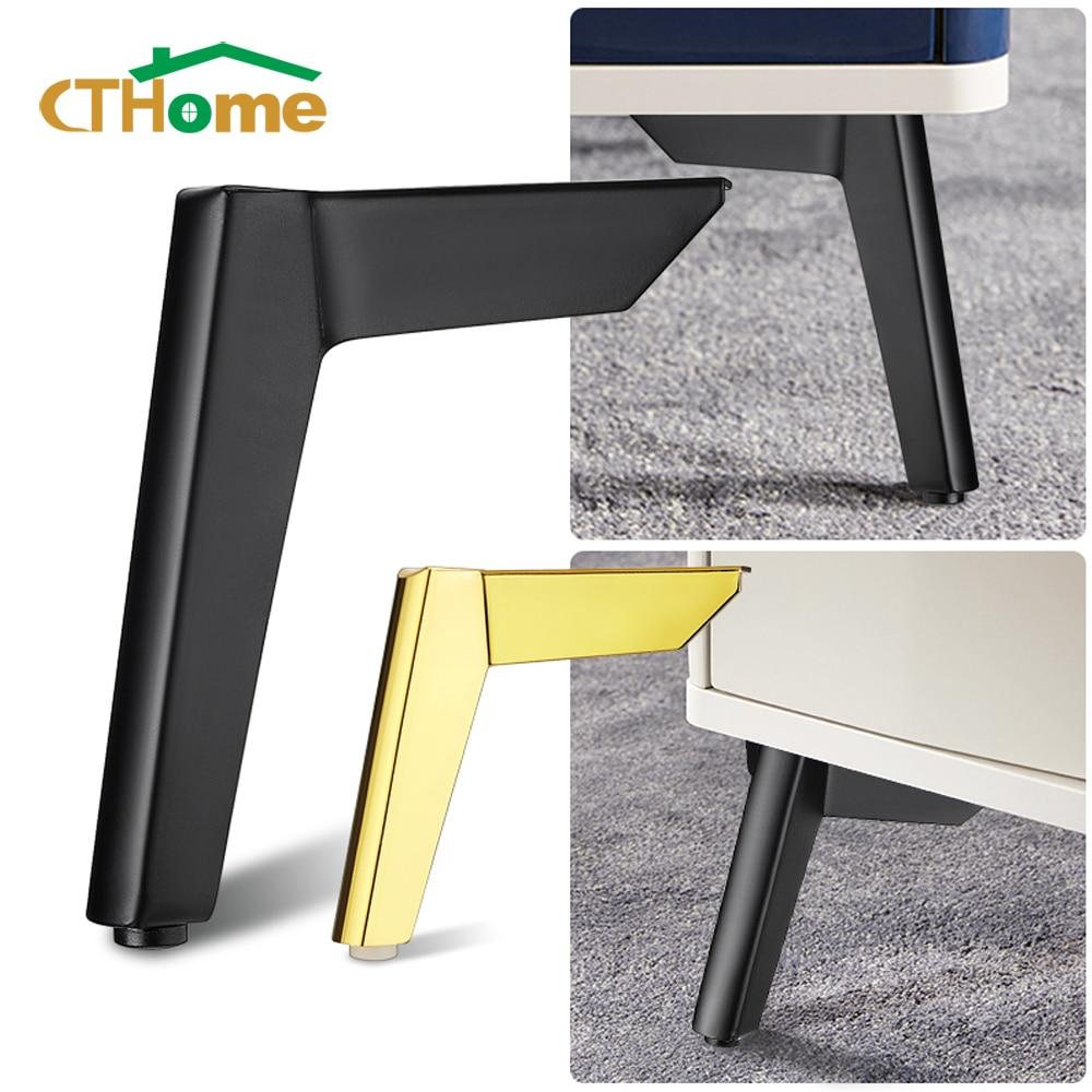 4 قطعة 8-15 سنتيمتر الذهب الأسود أرجل قطع الأثاث المعادن ، تستخدم ل أريكة سرير خزانة الشاي القهوة الجدول كرسي مكتب الساق القدم دعم قدم