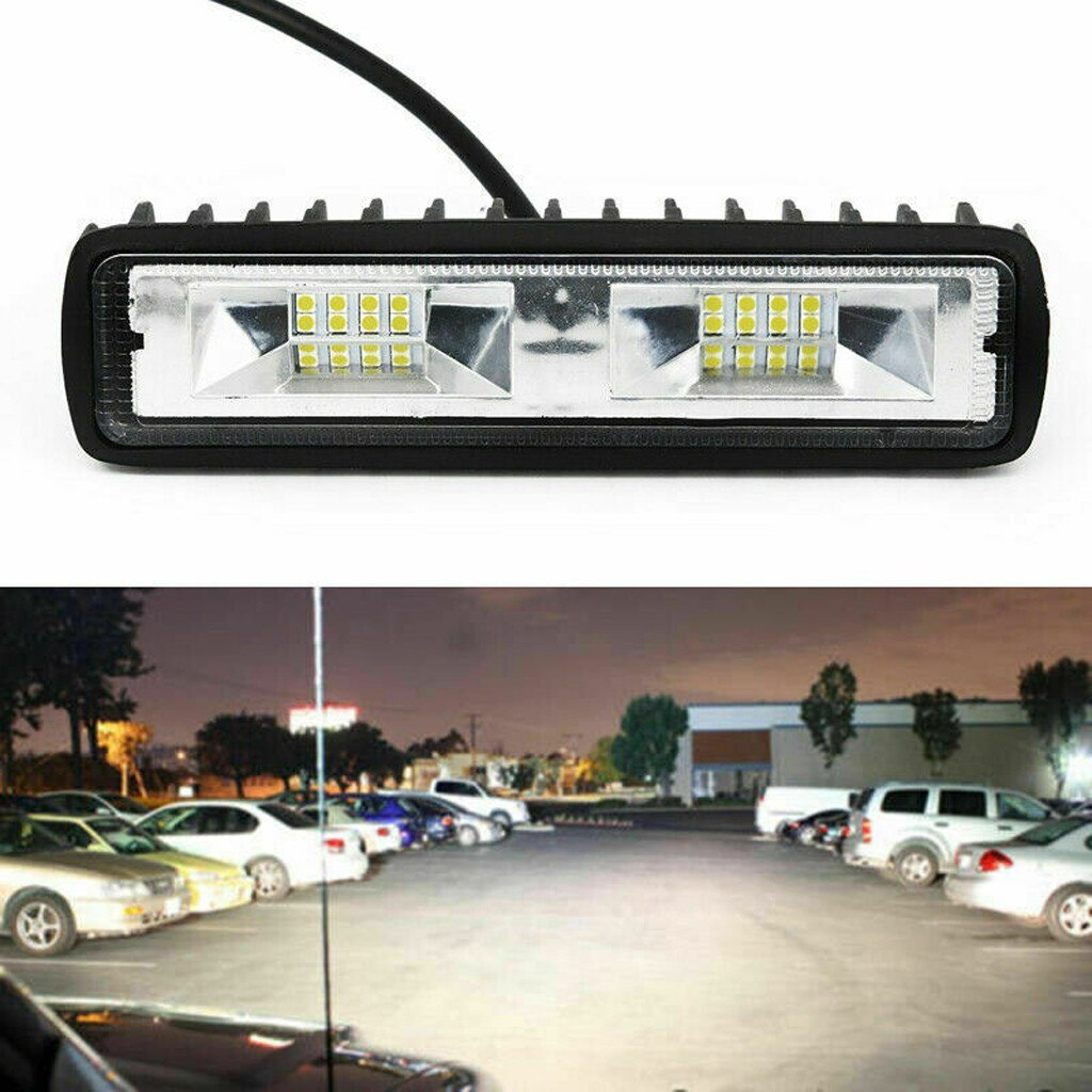 kongyide Car Light 18W 800LM Led Headlights Sealed Work Driving Modified Vehicle Lights 12V 16LED 6500K-7500K White Faro n5