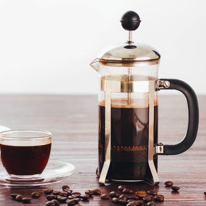الفرنسية Presses إبريق قهوة عملية صانع القهوة متعددة الوظائف دائم غلاية قهوة إبريق الشاي الفولاذ المقاوم للصدأ زجاج القهوة