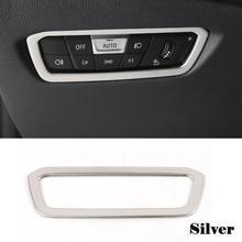 Pour BMW G20 G28 boutons de commutateur de phare cadre décoratif couvre autocollants en acier inoxydable garniture intérieure accessoires automatiques