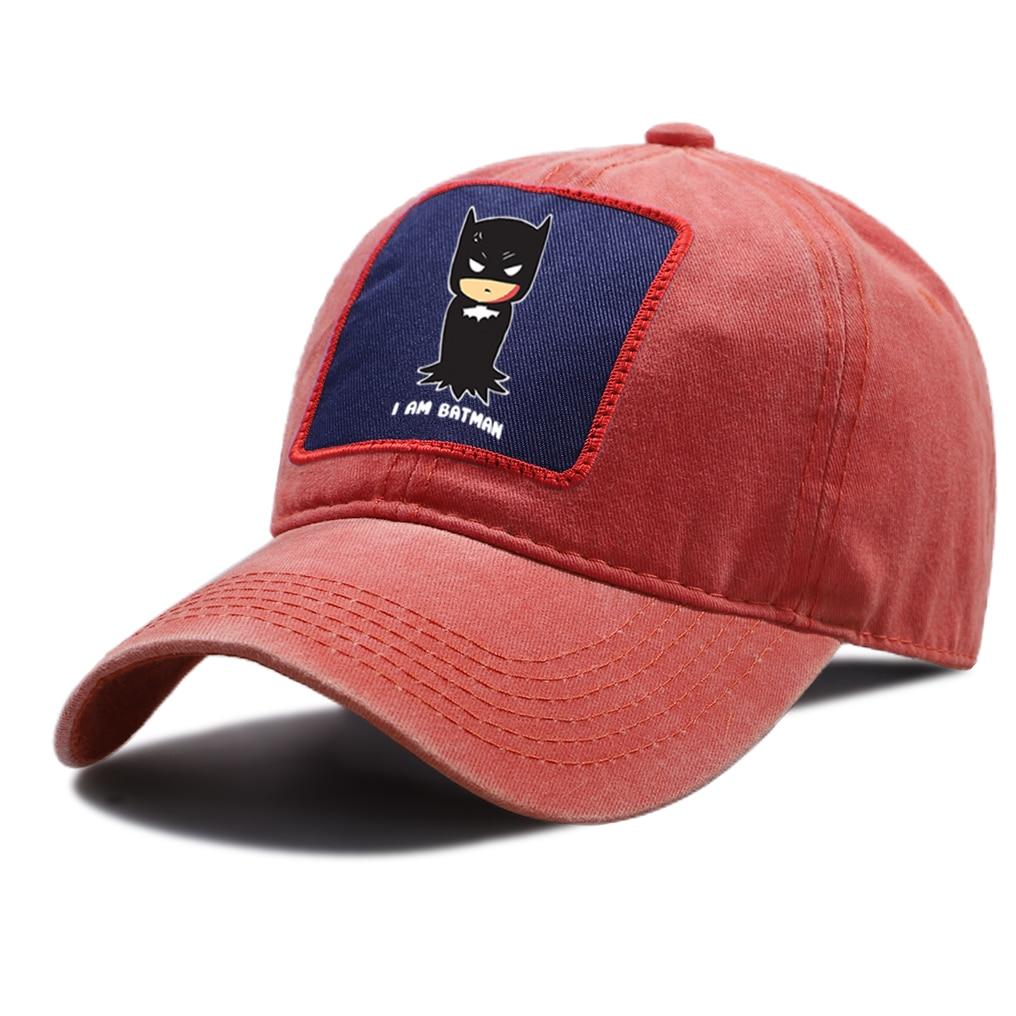 De algodón Unisex sombrero Casual gorra de deporte de conducción ajustable sombreros estoy Batman superhéroe gorras de béisbol Hip Hop Unisex gorra de béisbol